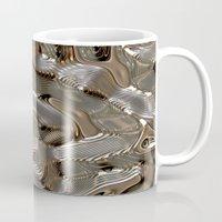 metallic Mugs featuring Metallic by LoRo  Art & Pictures