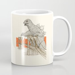Godzilla vs. the Brooklyn Bridge Coffee Mug
