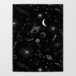 galactic pattern Poster