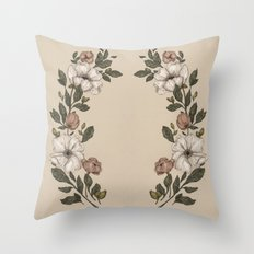 Floral Laurel Throw Pillow