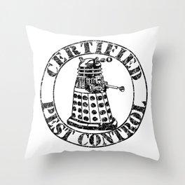 Certified Pest Control Throw Pillow
