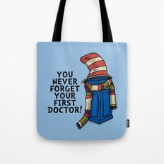 Blue Box in the Hat Tote Bag
