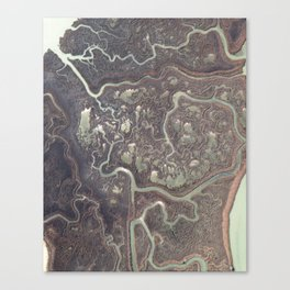 Earth from above Canvas Print