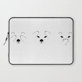 Three Wise Polar Bears Laptop Sleeve