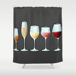 All the wine Shower Curtain