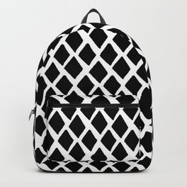 Rhombus Black And White Backpack