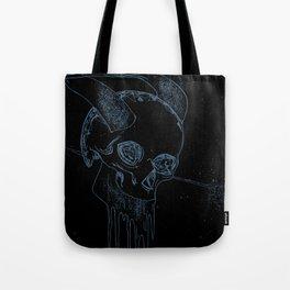 Neon Bklue Skull Tote Bag