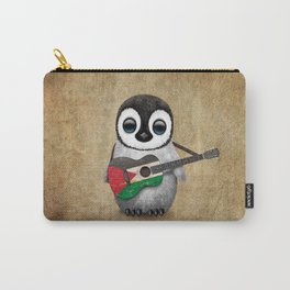 Baby Penguin Playing Palestinian Flag Acoustic Guitar Carry-All Pouch