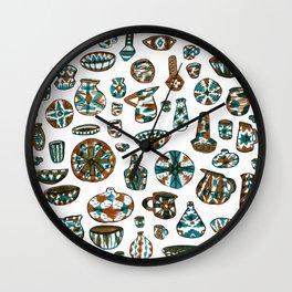 New Mexico Pottery Wall Clock
