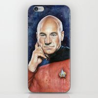 picard iPhone & iPod Skins featuring Captain Picard by Olechka