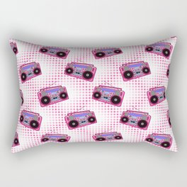 Boombox / Pink Rectangular Pillow