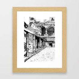 Herculaneum Courtyard Framed Art Print