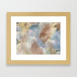 Earth Color Watercolor Abstract Framed Art Print