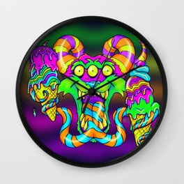 Double Tonguing It Wall Clock