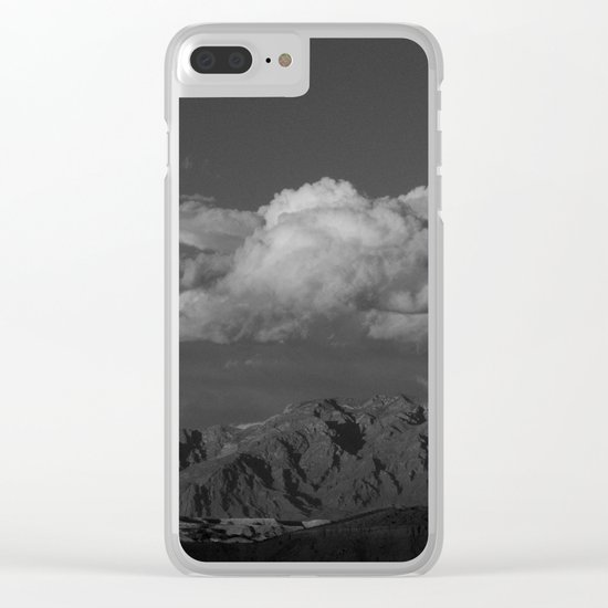 Virgin Mountains - B & W Clear iPhone Case
