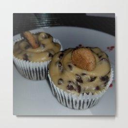 Chocolate chip cookie dough cupcakes Metal Print