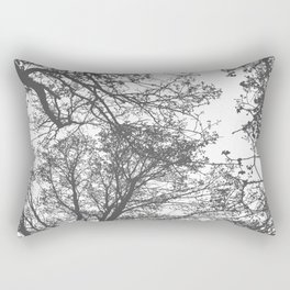 Grey Trees Abstract Rectangular Pillow