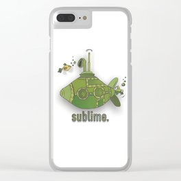 sublime by J.Rombach Clear iPhone Case