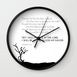 I Will Rejoice Wall Clock