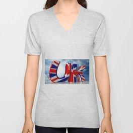 UK - United Kingdom Unisex V-Neck