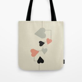 heart map Tote Bag