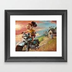 Biker Framed Art Print