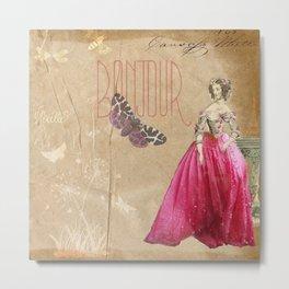 Hibiscus Dress Lady Metal Print