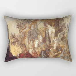 Gustave Moreau - The Muses Leaving Their Father Apollo to Go and Light the World Rectangular Pillow