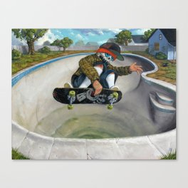 Pool Calavera Canvas Print