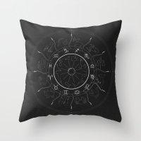 zodiac Throw Pillows featuring Zodiac by NoHo