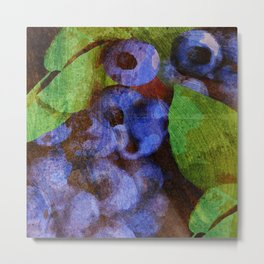 Fruits - Mirtilo Metal Print
