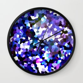Ultraviolet Mountains Moon Love Wall Clock