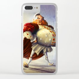 Henry VIII Clear iPhone Case