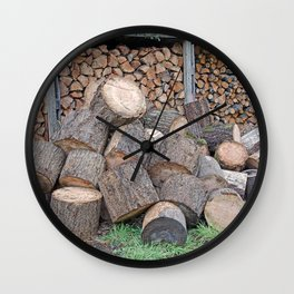 AFTER ENLIGHTENMENT CHOP WOOD Wall Clock