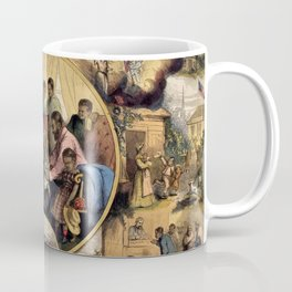 African American Masterpiece 'Civil War - Emancipation Past and the Future' Portrait by Thomas Nast Coffee Mug