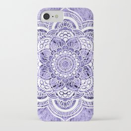 Mandala Lavender Colorburst iPhone Case