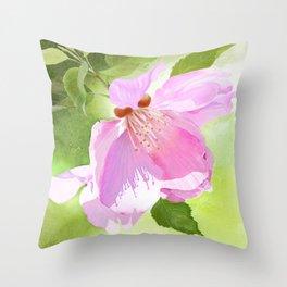 Apple Blossom Three Throw Pillow