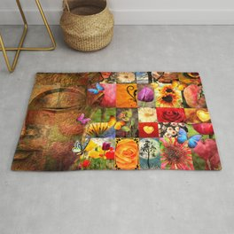 Collage Of Happiness  Rug