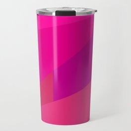 Pink Fractal Travel Mug