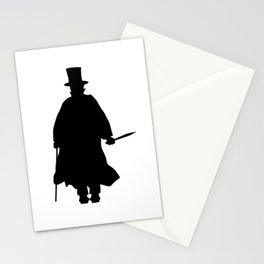 Jack the Ripper Silhouette Stationery Cards