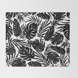 Urban Jungle White Throw Blanket
