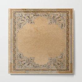 Old Knotwork Paper Metal Print