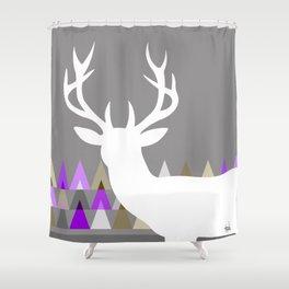 purple and gray shower curtain. Deer Head Geometric Triangles  purple grey Shower Curtain Custom Curtains Society6