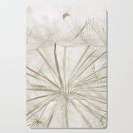 Dandelion Neutral Closeup Cutting Board