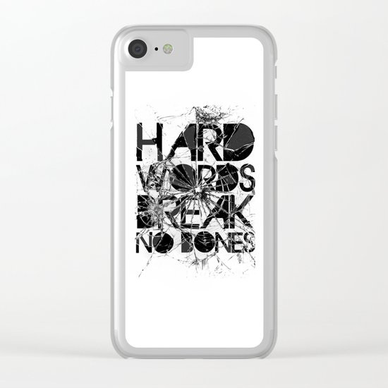 HARD WORDS Clear iPhone Case