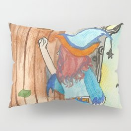 Knocking Witch Pillow Sham