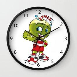 Coconut Water Cartoon Wall Clock