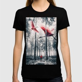 Red Birds in winter by GEN Z T-shirt