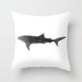 Whale shark Rhincodon typus Throw Pillow