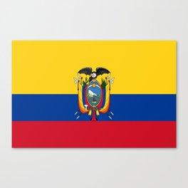 Flag of Ecuador -ecuadorian,Inca,Kichwa,Quito,america, South america,Spanish,Amazonia,latin america Canvas Print